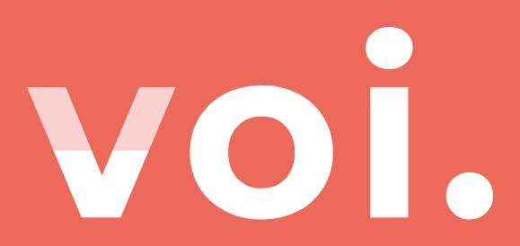 VOI white logo