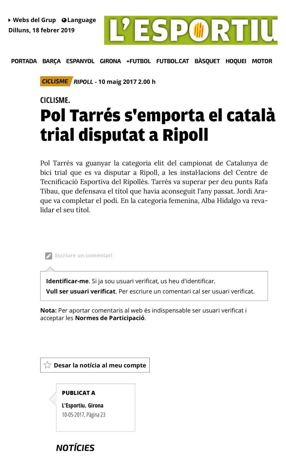2017-5-10 Pol Tarrés s'emporta el català de bici trial disputat a Ripoll | Ripoll | Ciclisme | L'Esportiu de Catalunya 3.jpeg