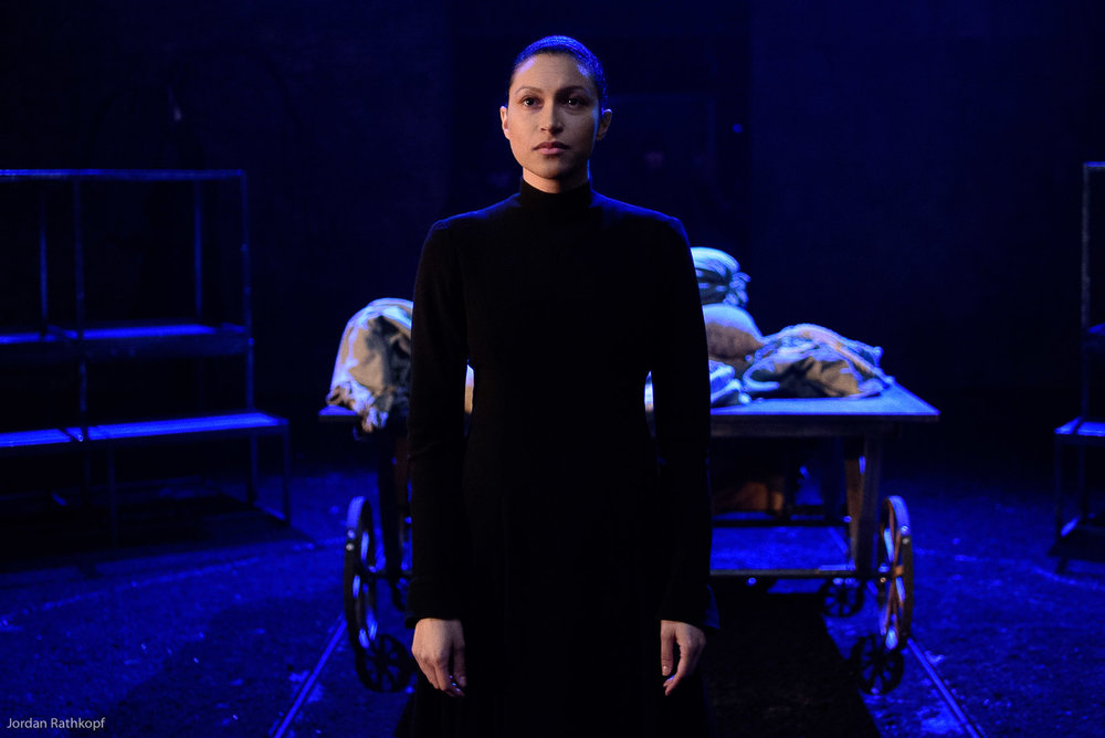 """Amy Lopatin. cast of """"King Lear"""" in rehearsal/costume at BAM, 4."""