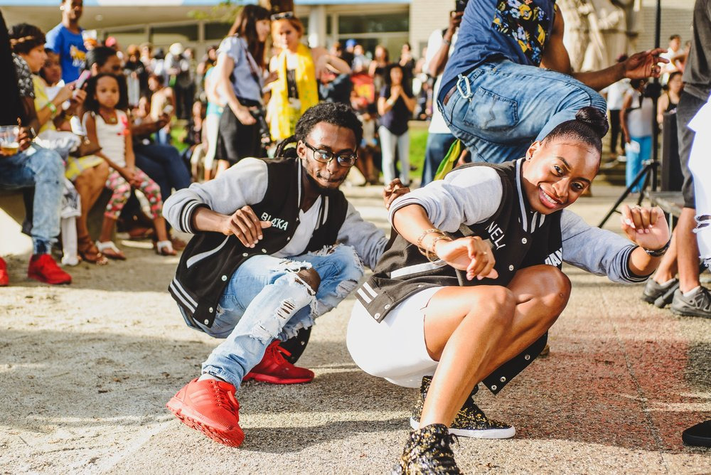 Dancehall choreograher Blacka Di Danca and dancer Nelly at Brooklyn Musuem's CaribBEING Target First Saturday