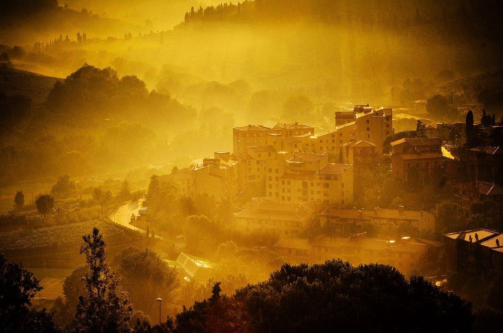 Glowing village