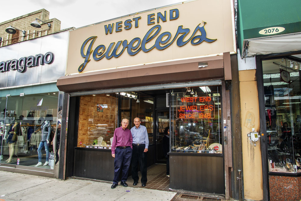 West End Jewekers 79th anniversary with the owners, brother Howard and Barry