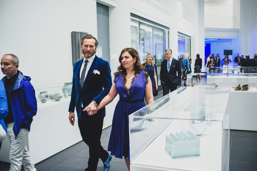 The Brooklyn Artists Ball at Brooklyn Museum 2017. Michael and Tina Gerling (7189152151) walk through the museum to the dinner