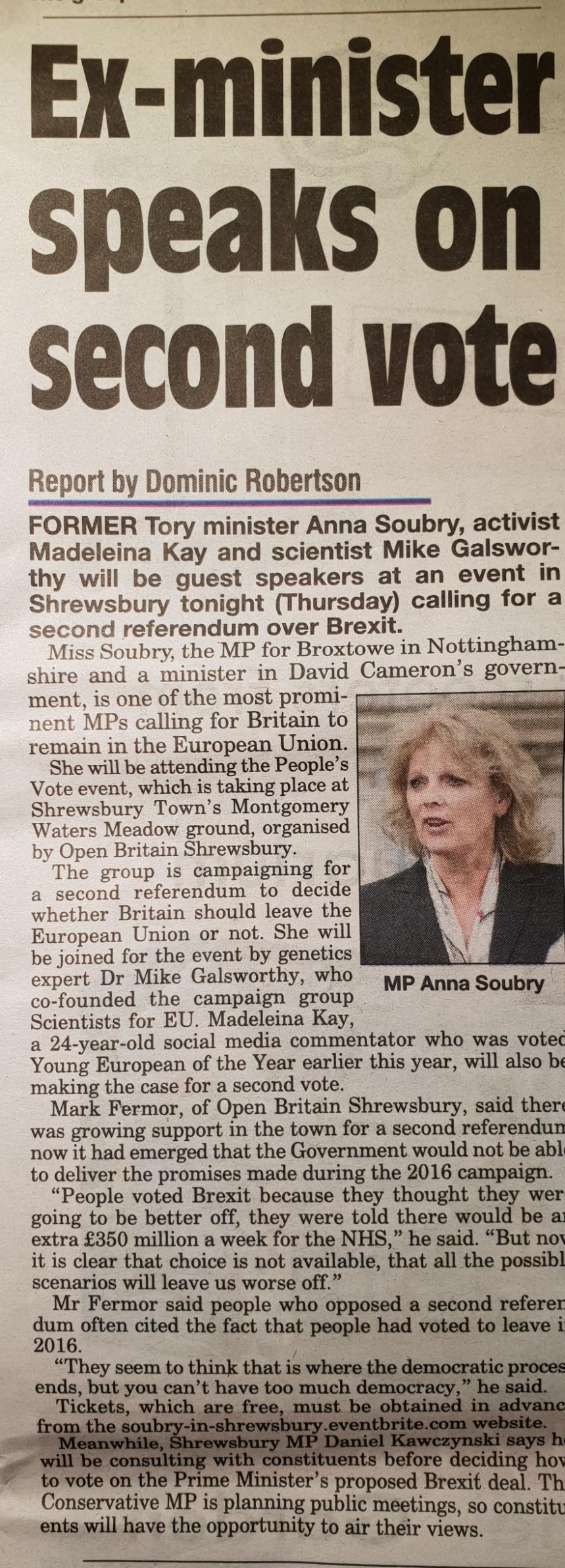 Shrewsbury Chronicle - 22nd November 2018