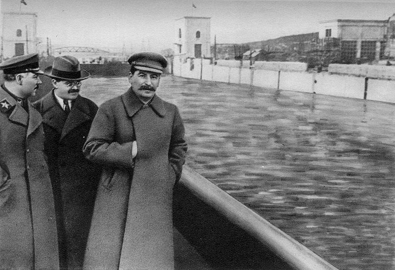 The same image from above but after Yezhov had been purged and erased from all Soviet documents post 1940 when he become the object of Stalin's enmity. Both images in the public domain and from  https://en.wikipedia.org/wiki/Nikolai_Yezhov#Head_of_the_NKVD  . Not that Yezhov deserves any sympathy, he himself was responsible for killing hundreds of thousands of innocent people, either by having them murdered outright, or by having them sent to the gulags where they first suffered a fate worse than death.
