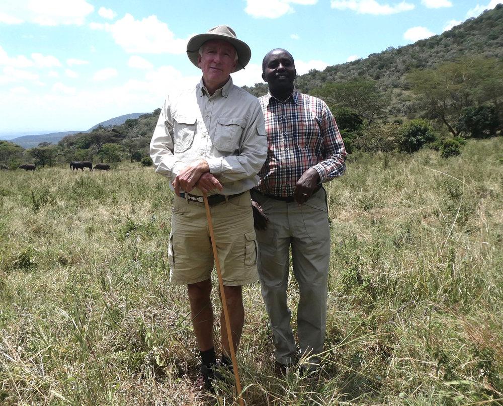 Founder Karl Von Heland with his founding Masai Partner Rimoine Ole Kararei