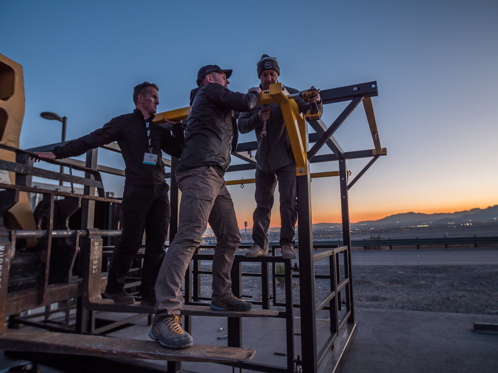 BeaverFit USA and BeaverFit UK dismantle the Air Delivery Platform in Las Vegas