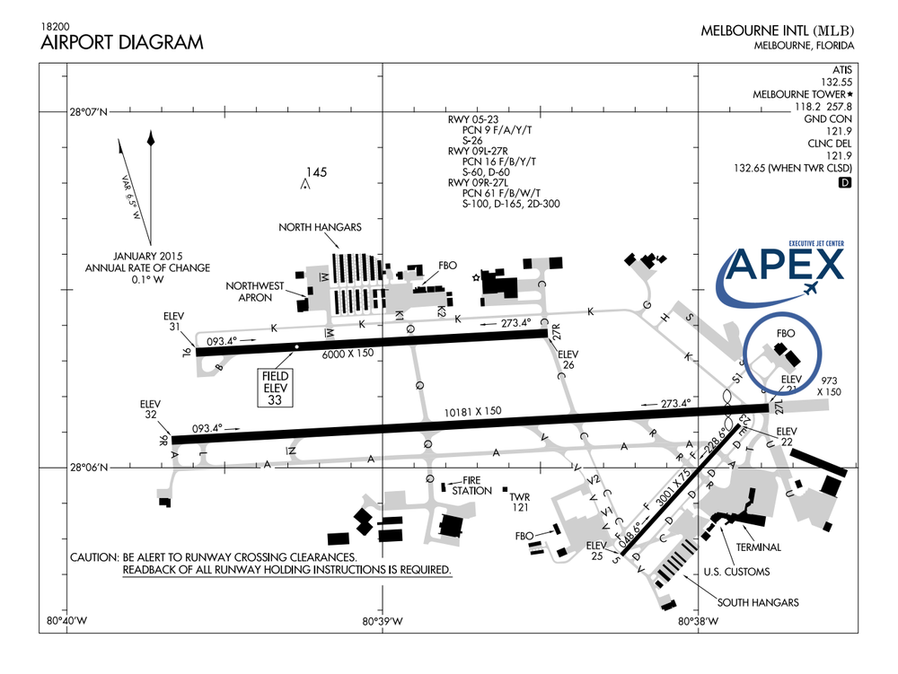 Melbourne International Airport Diagram