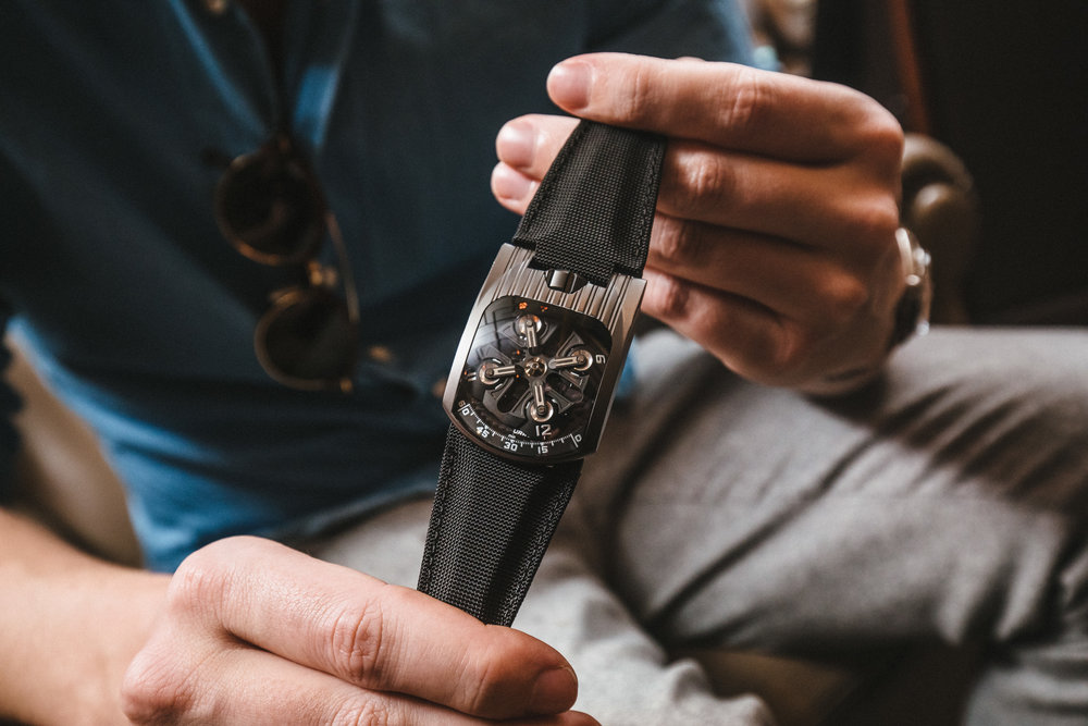 A collector's Urwerk 103 freshly back from the spa