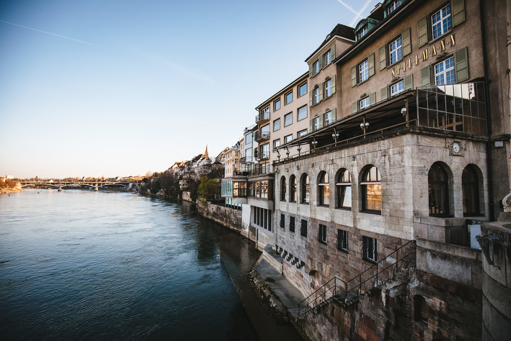 The beautifully located Davidoff of Geneva lounge in Basel.