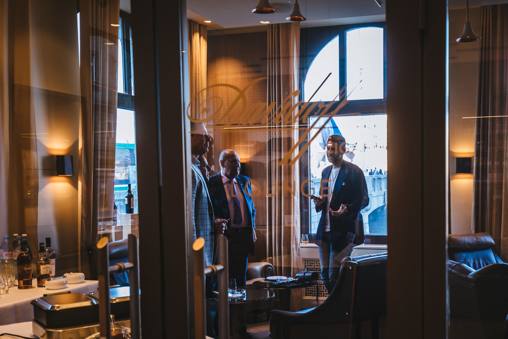 One of the best cigar lounges we've visited