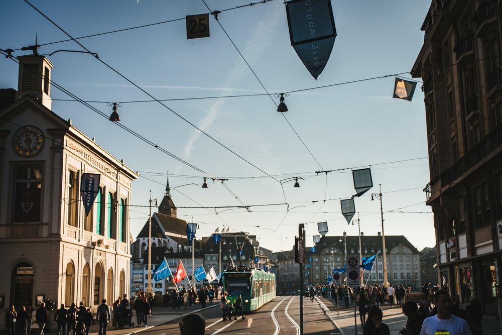A short tram ride from Baselworld Messeplatz to Davidoff by the Rhine