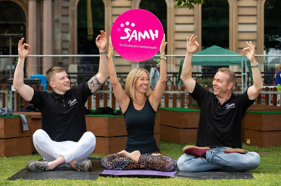 Adam Peaty, Emma Frame & Sir Chris Hoy at the official launch of the Mental Health Charter