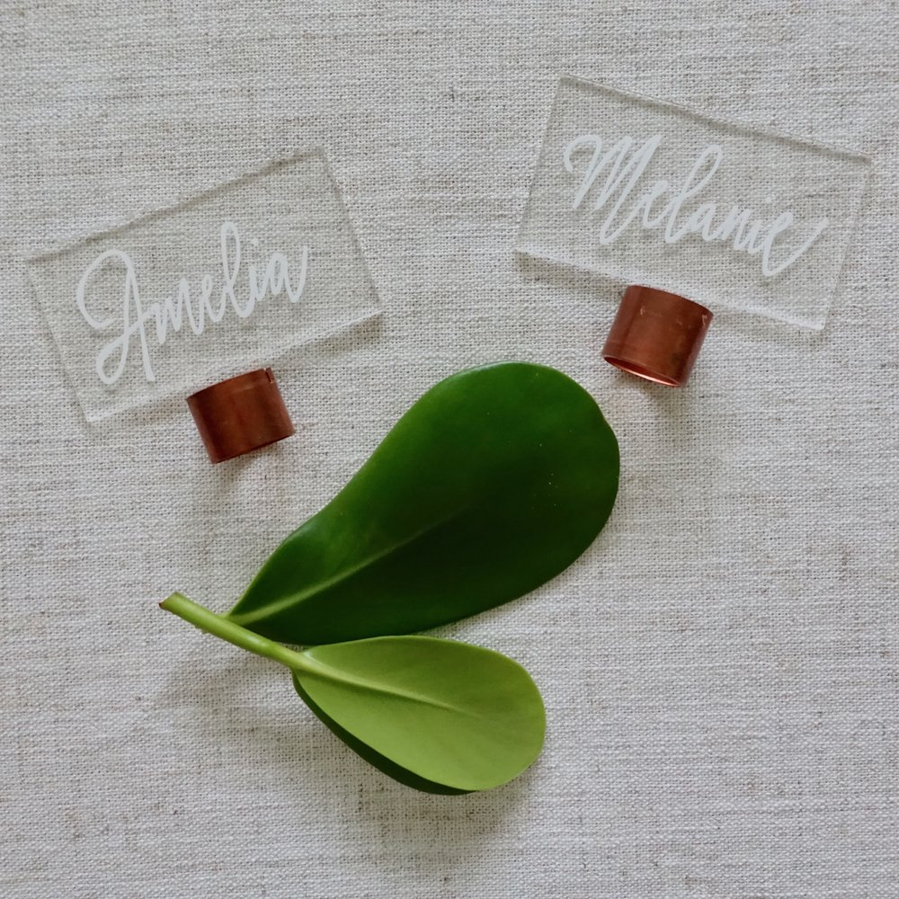 Clear Escort Cards Doyle Paper Co Tampa Wedding Invitations