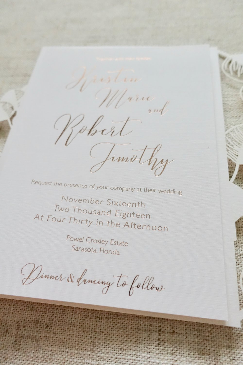 Tampa Wedding Invitations Doyle Paper Co