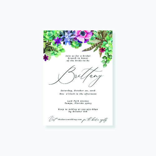 succulent bridal shower