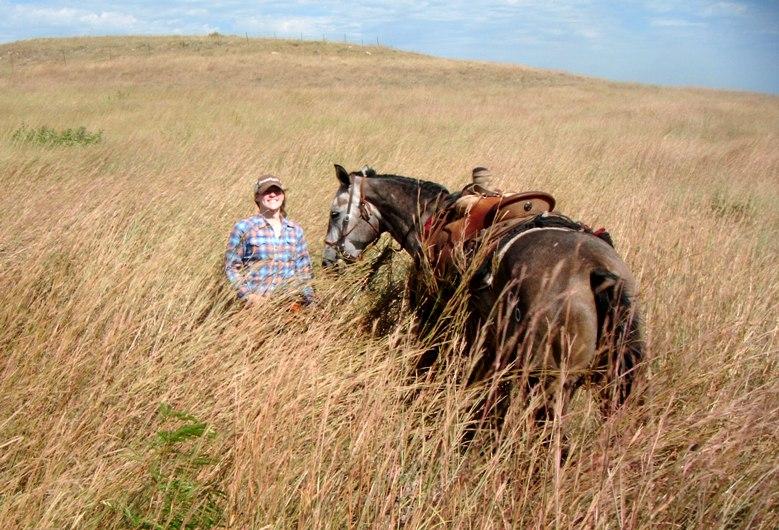 Tallgrass prairie cowgirl.JPG