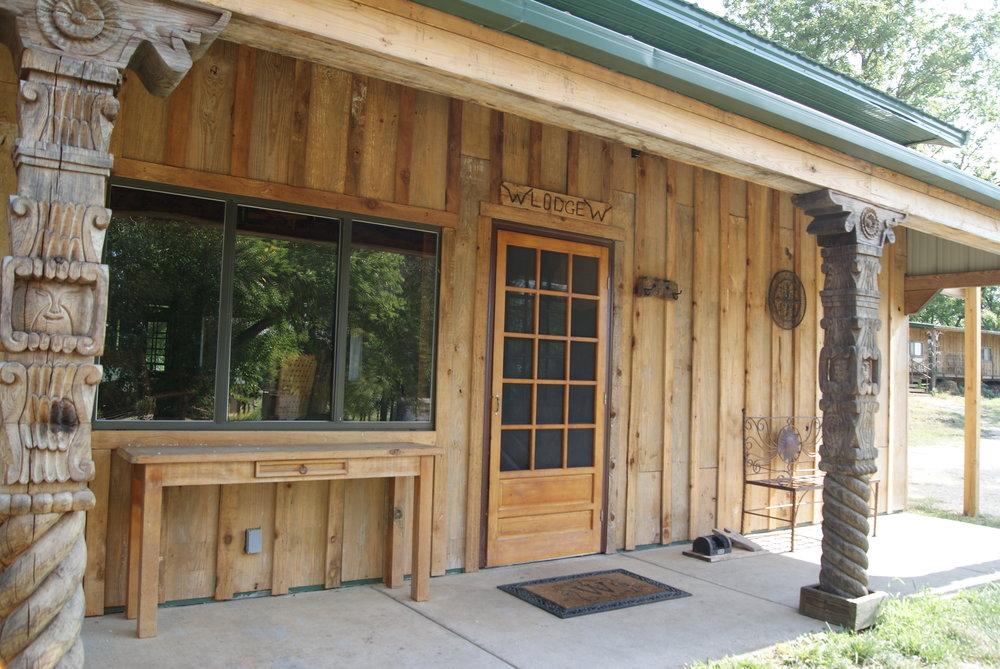 The Lodge West entrance