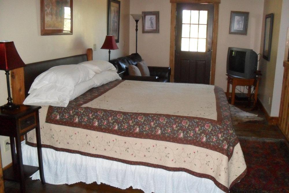 The Lodge West upper master bedroom