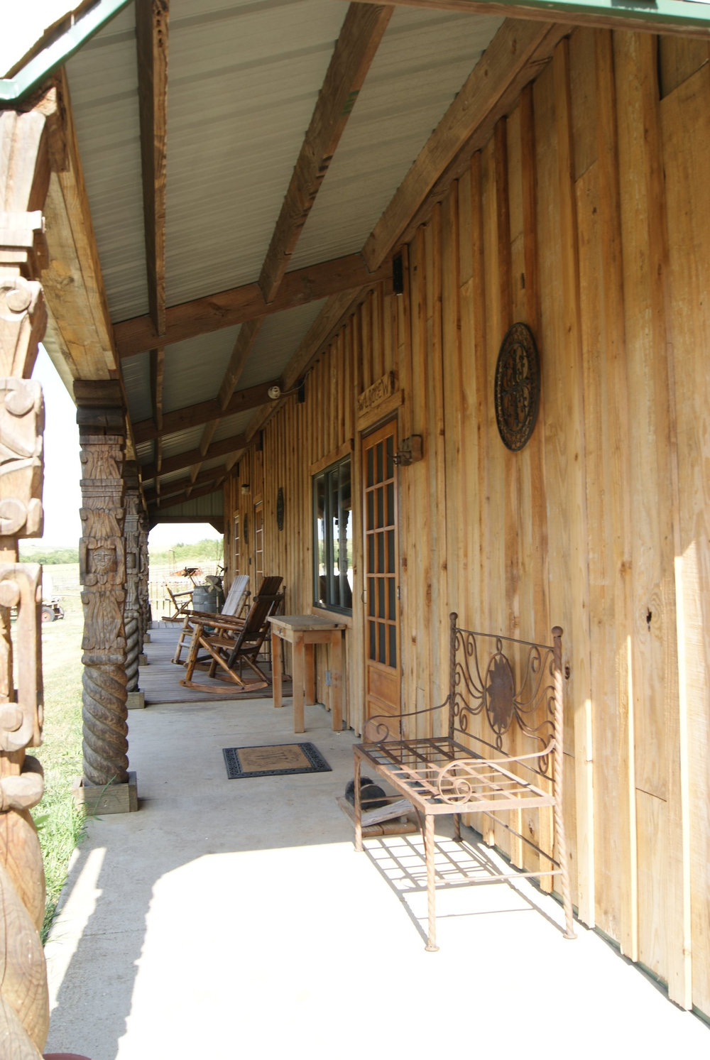 The Lodge front porch