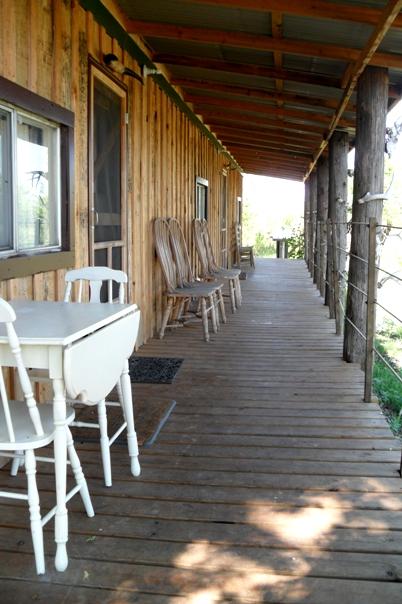 The Bunkhouse porch and entrances