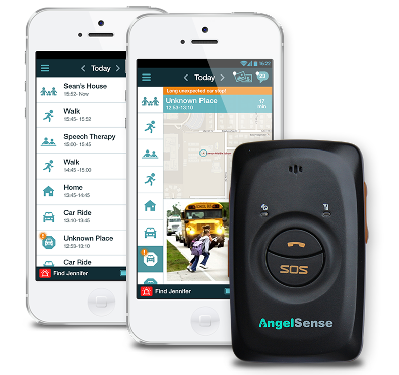 GPS Safety Tracking - AngelSense is a GPS Tracker and an app, designed to create a safe world for people with special needs. Gain peace of mind knowing exactly where your loved one is at every moment!