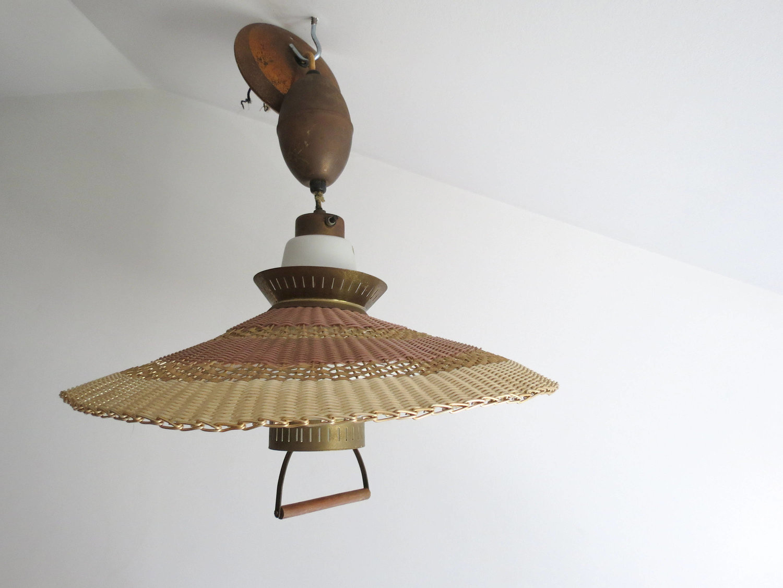 Vintage Wicker Hanging Light Fixture — This Attic Vintage