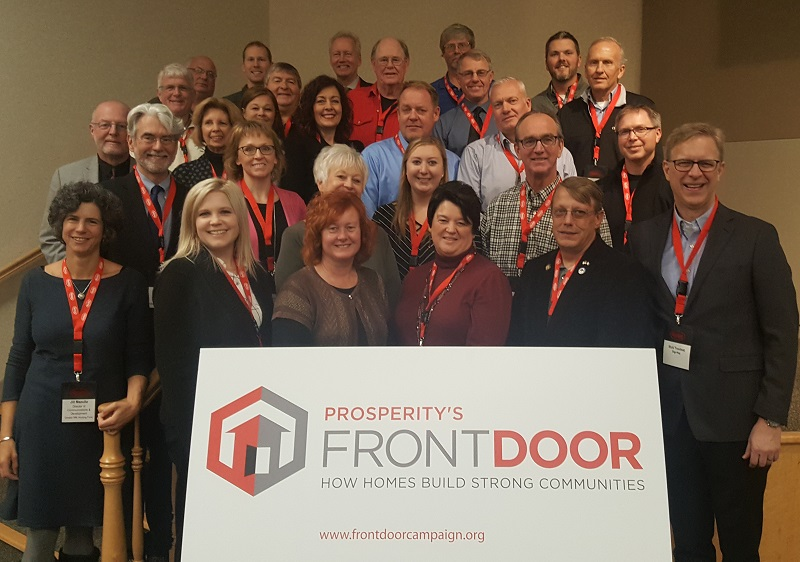 Elected officials, local employers and civic leaders met to discuss housing needs and solutions with Prosperity's Front Door representatives, Warren Hanson and Jeff Fagerstrom.