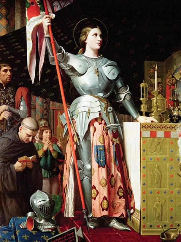 Joan of Arc at the Coronation of Charles VII, by Jean Auguste Dominique Ingres, 1854