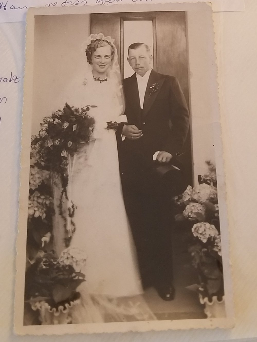 My great-grandparents Irmgard and Willi Labes on their wedding day in March 1939.