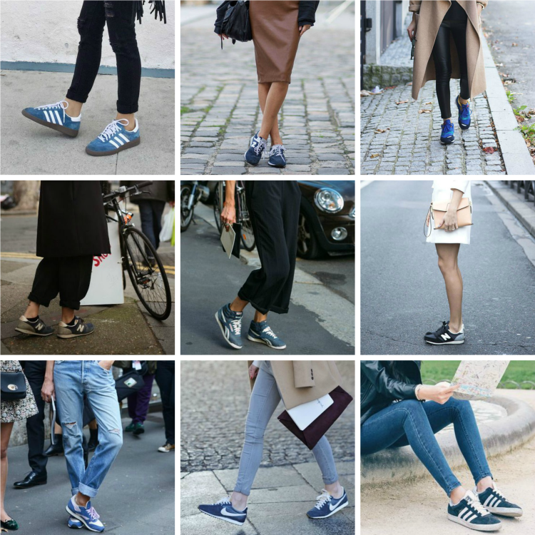 blue sneaker collage