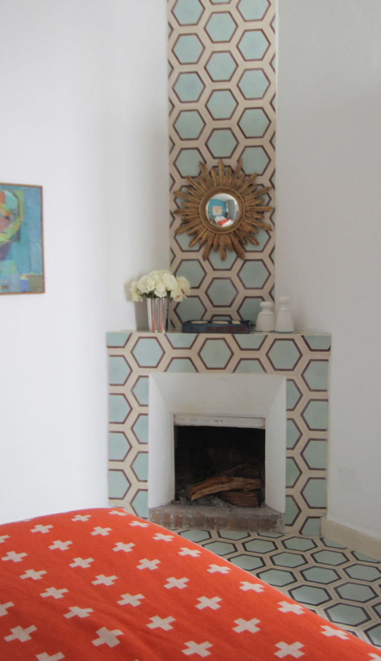 honeycomb-hex-fireplace-wall