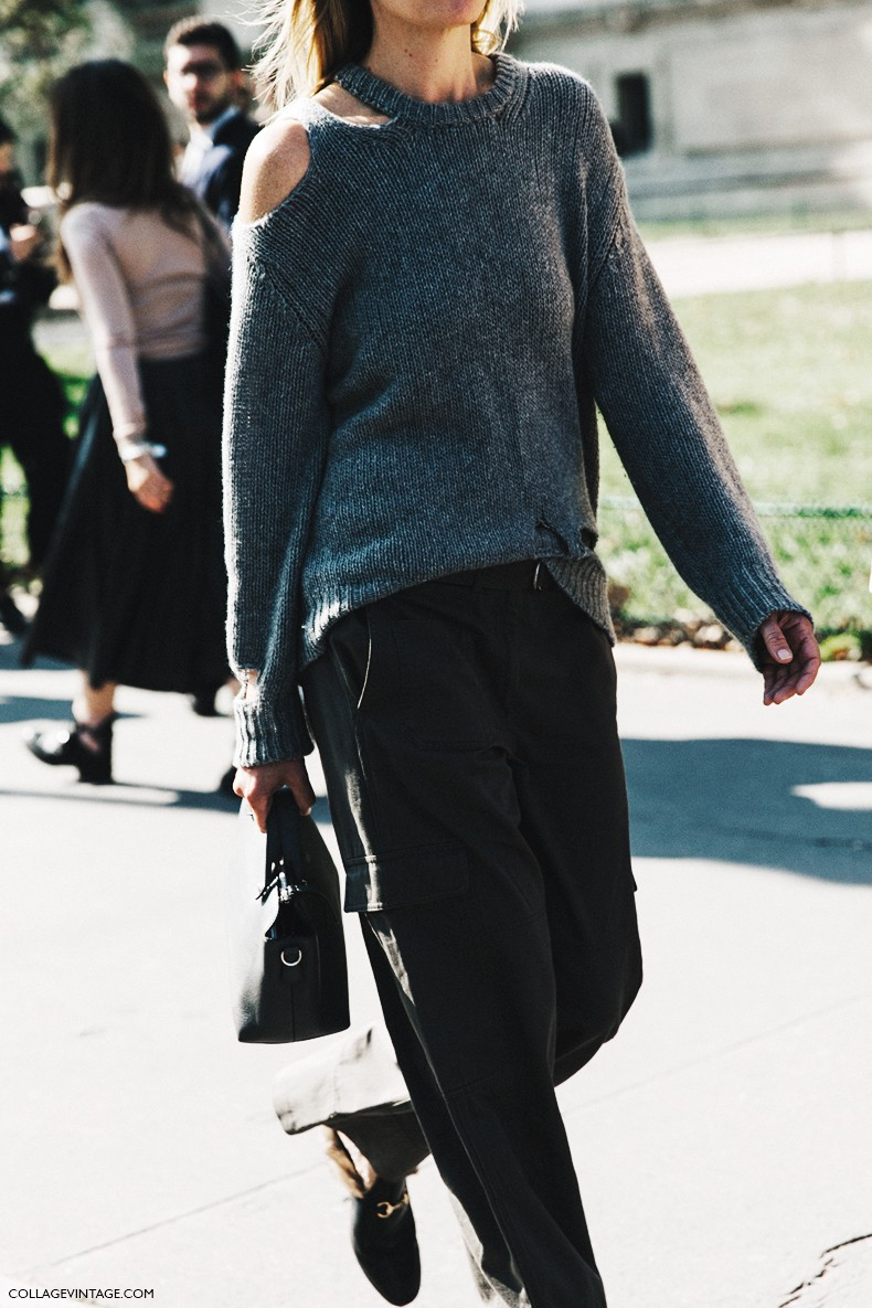 PFW-Paris_Fashion_Week-Spring_Summer_2016-Street_Style-Say_Cheese-open_Sweater-Gucci_Loafers--790x1185