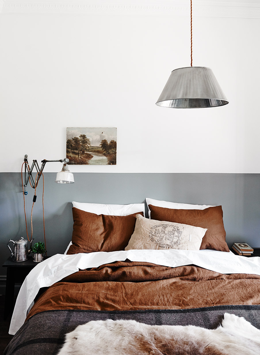 slaapkamer bruin en grijs