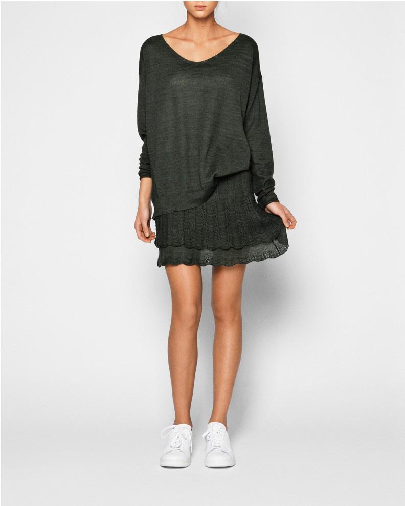 376_knit_strik_blouse_bluse_skirt_nederdel_barbara_codie_dark_kale_moerk_groen_lookbook_primary_1