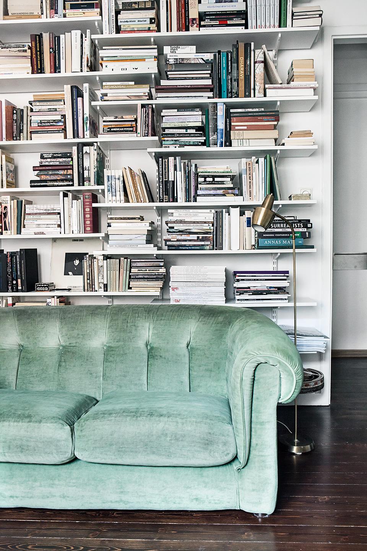 heleneborgsgatan-sc3b6dermalm-sofa-bookshelf-books-green-velvet-fantastic-frank.jpg