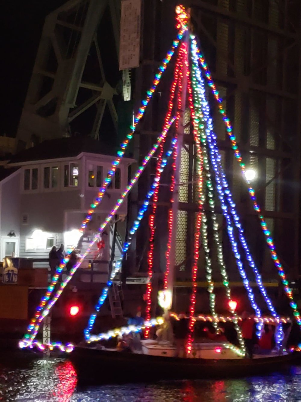 One of the boats in the holiday lighted boat parade.