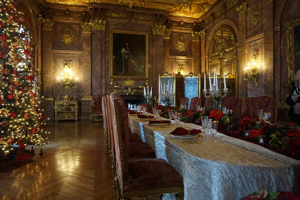 The Marble House - the dining room. I could picture myself sitting there having a Christmas day meal!