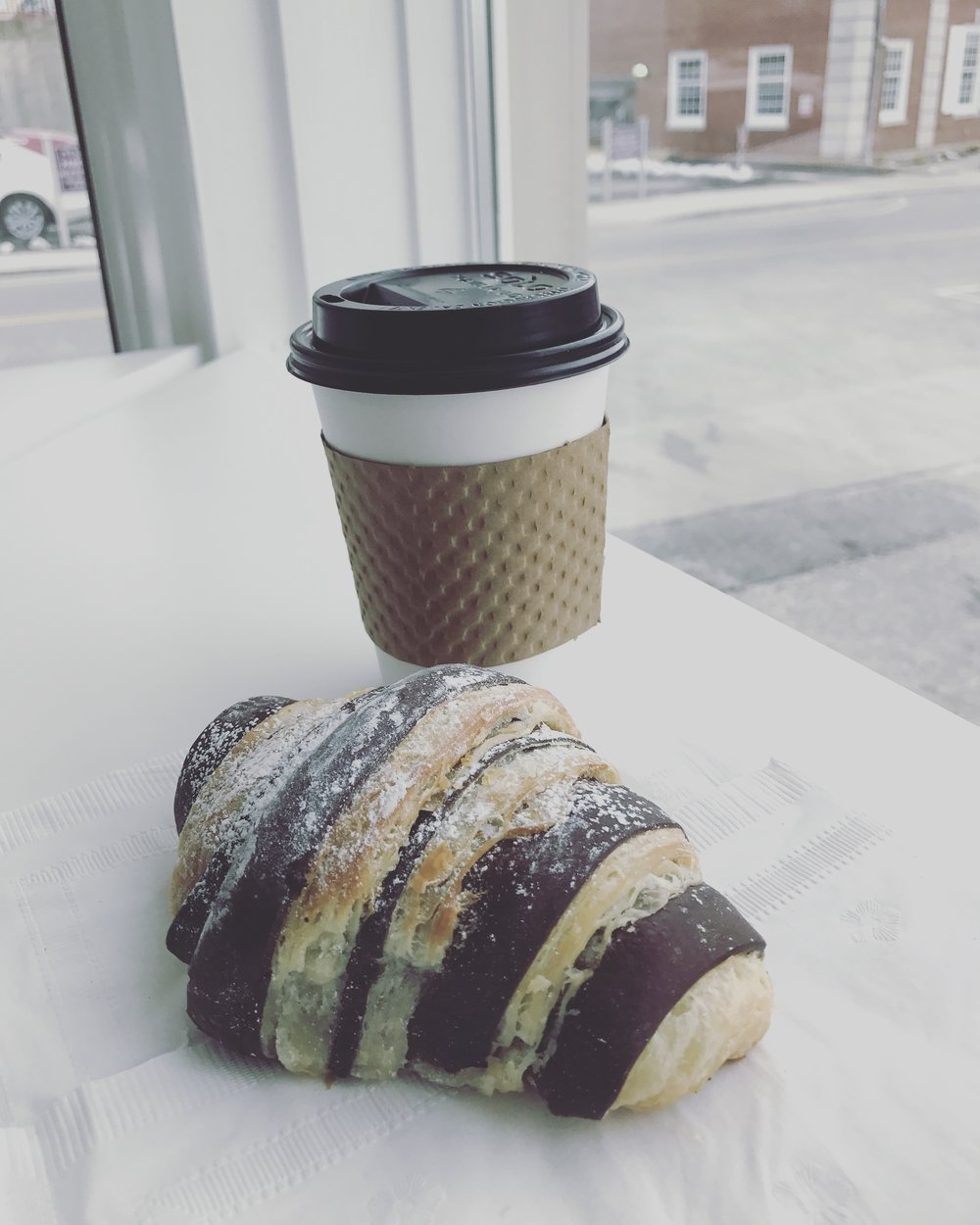 The infamous chocolate croissant!