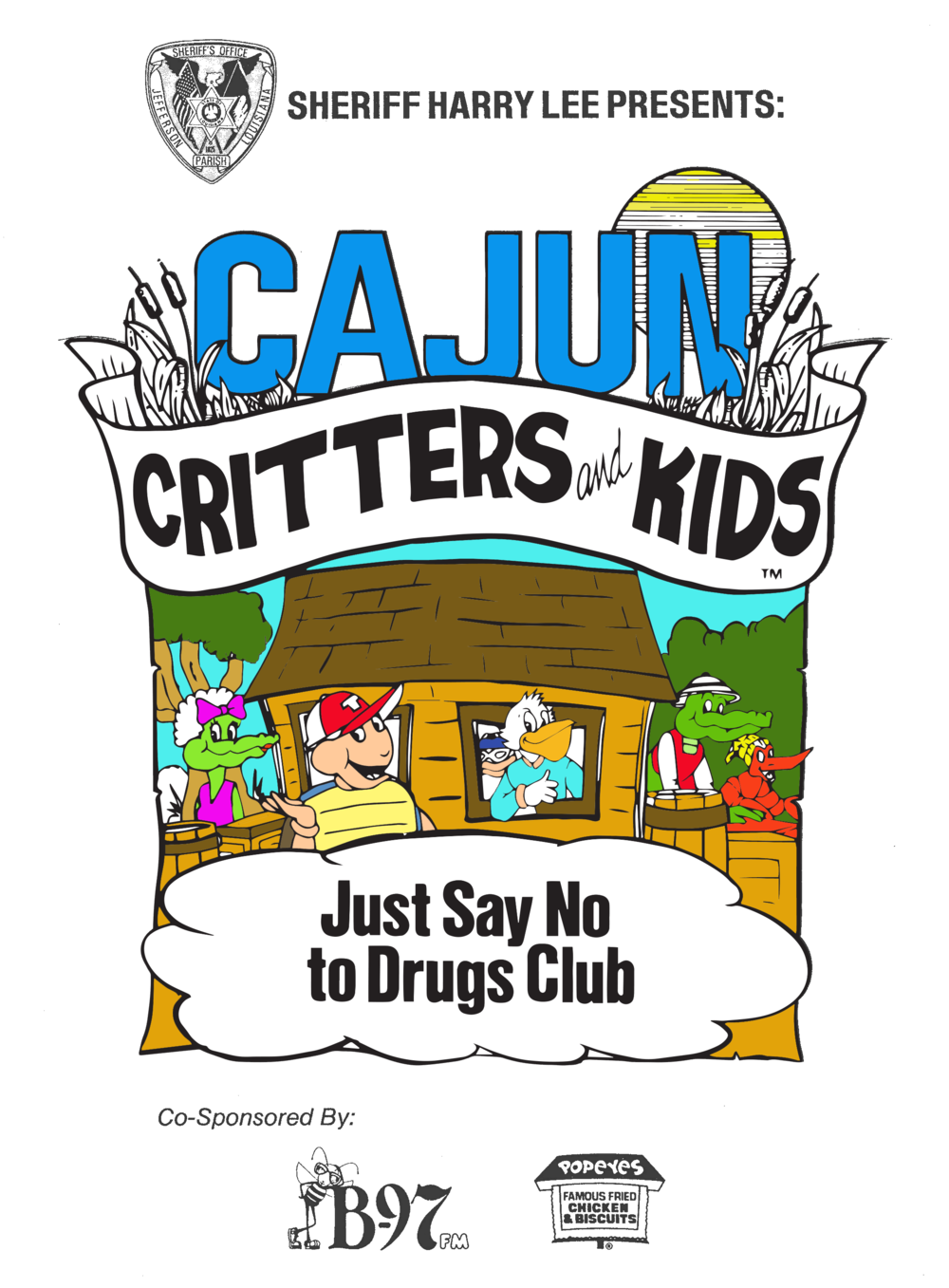 Seymore D Fair | 1987 Cajun Critters Just Say No to Drugs Coloring Book Cover.png