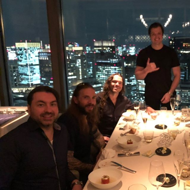 """The boys and me had the most epic private dinner ever at SIGNATURE inside the Mandarin Oriental @mo_tokyo in Tokyo last night.  Chef Luke Armstrong @lukearmstrong8 made us a custom-tailored dinner menu — and to our delight, Chef actually joined us for our meal, giving us a unique play-by-play of each dish!  Having a Michelin-Starred chef of this caliber hanging all night at our table while his cuisine is being served and described in detail and backstory is EXTREMELY SPECIAL.  THANK YOU, CHEF ARMSTRONG!  What a way to wrap up our trip!!! . . . #Repost @mo_tokyo with @get_repost ・・・ 「ミシュランガイド 東京」からの星評価をはじめ、数々の受賞歴に輝くフレンチファインダイニング「シグネチャー」では、料理長ルーク アームストロングによる、「コンテンポラリーフレンチ」をお愉しみいただけます。 日中は柔らかい光が注ぎ、夜は都心のスカイラインが煌めく、シルバーのパーテーションで仕切られたエレガントでモダンな内装が美食体験に華を添えます。  詳細、ご予約はこちら:https://www.mandarinoriental.co.jp/tokyo/nihonbashi/fine-dining/restaurants/french-cuisine/signature  Under the award-winning culinary direction of Chef de Cuisine Luke Armstrong, Michelin-starred contemporary French cuisine takes center stage at """"Signature"""". The joy of savouring each individual dish is enhanced further by the restaurant's elegant contemporary décor: tables are intimately partitioned by silver screens, with the interior bathed in soft sunlight during the day or lit up by a sparkling urban skyline after dark.  Find more information: https://www.mandarinoriental.com/tokyo/nihonbashi/fine-dining/restaurants/french-cuisine/signature  #MandarinOrientalTokyo #MOtokyo #ImAFan #マンダリンオリエンタル東京 #マンダリンオリエンタル #MandarinOriental #Nihonbashi #日本橋#Signature #シグネチャー #French #FrenchCuisine #フランス料理 #Michelin #ミシュラン #DryAging #ドライエイジング #dining #ContemporaryFrench #フレンチ THANK YOU, @CurtisDuffy!!!"""