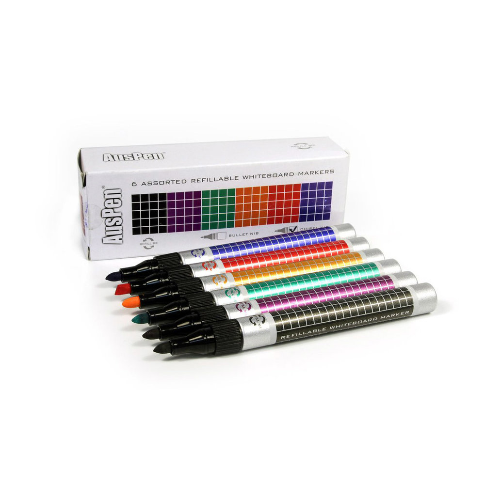Refillable whiteboard markers