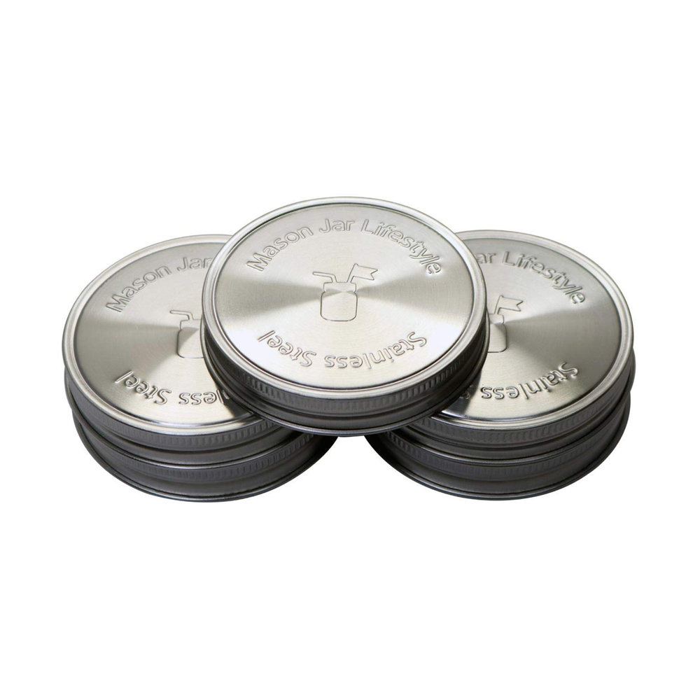 Stainless steel mason jar lids