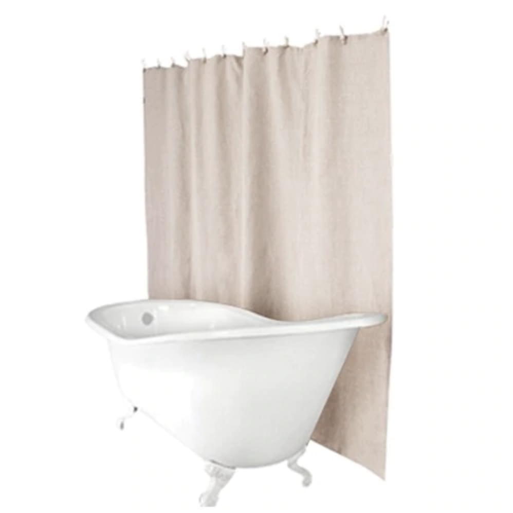 Hemp shower curtain