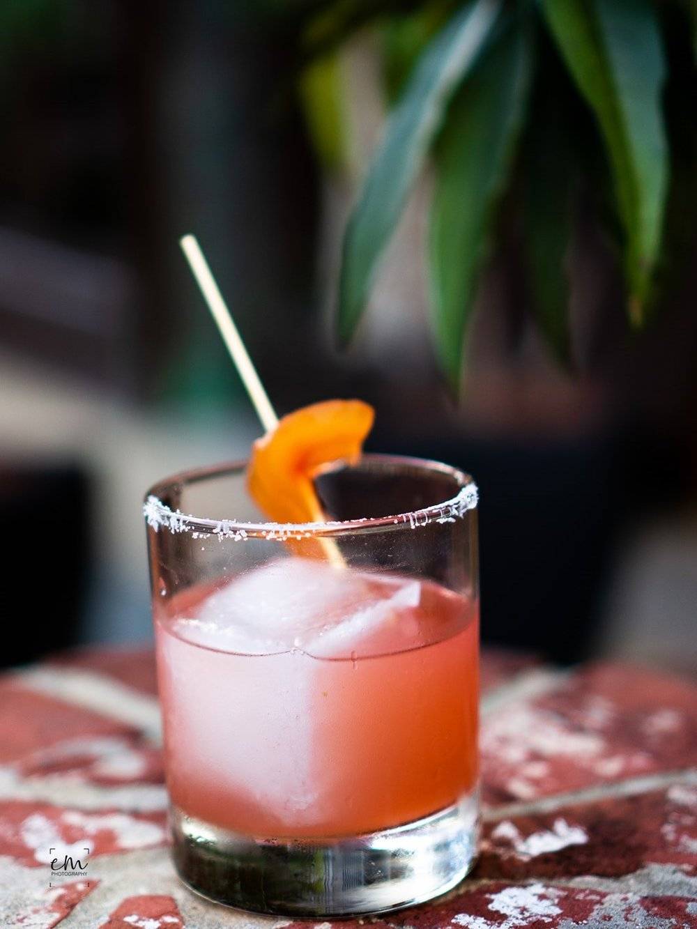 Pickled watermelon rind garnishes the Summer Sandia at  Firefly .