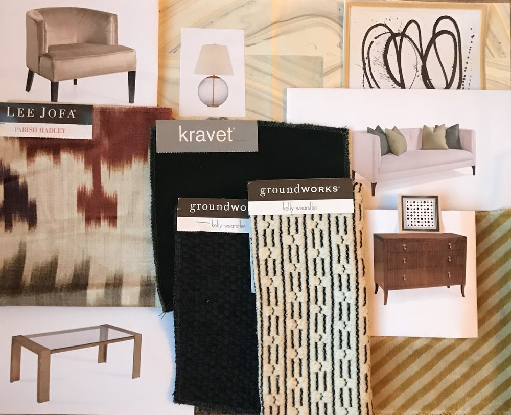 My moodboard for one of the spaces in the Showhouse in a Showroom