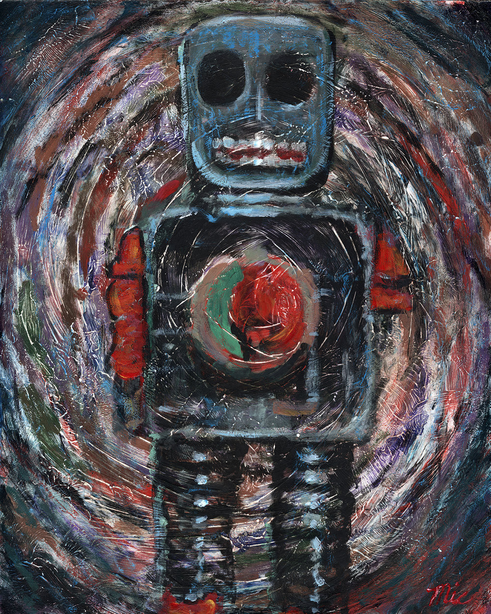I Am Your Robot - Acrylic Private Collection of Michael and Jennifer LoxtermanGiclee Limited Edition and canvas prints are available. Please visit the prints gallery.
