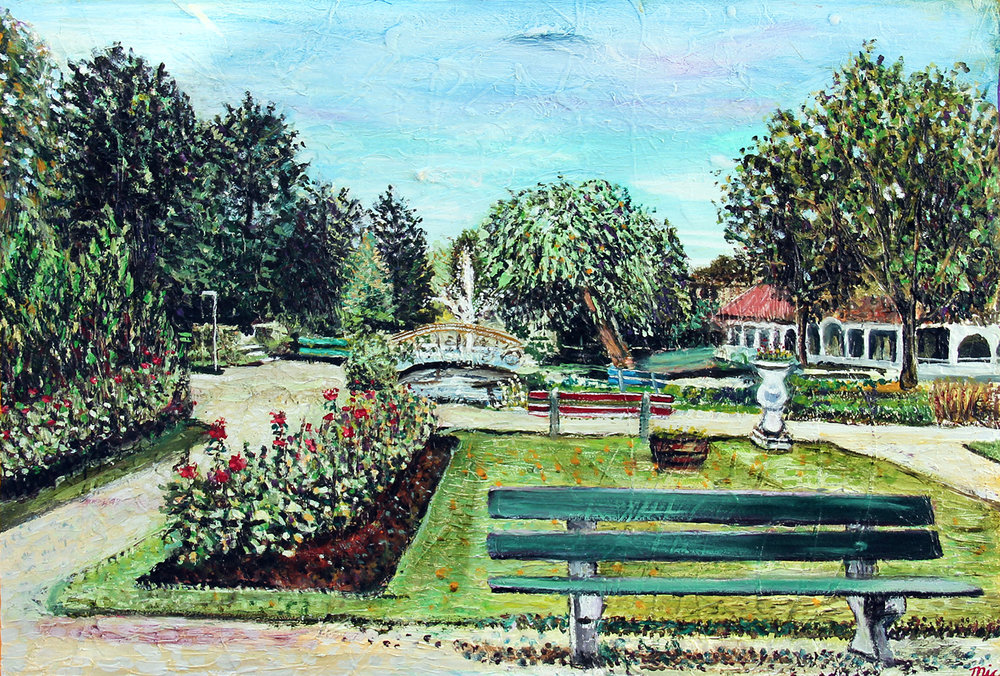 """Wandelpark"" Netherlands - Oil on Italian canvas, Private Collection Bob and Marcy Roth.Giclee Limited Edition and canvas prints are available. Please visit the prints gallery."