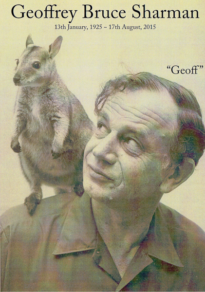 Geoff and Black tailed Wallaby