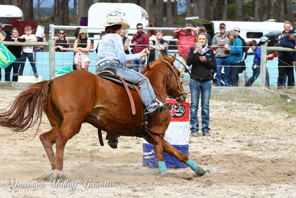 Horse spectacular at Carrick barrel racer